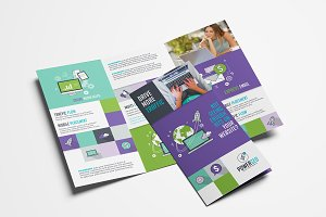 SEO Agency Trifold Brochure Template