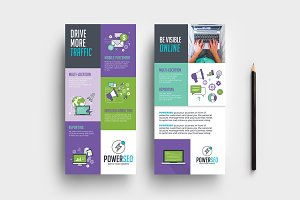 SEO Agency DL Card Template