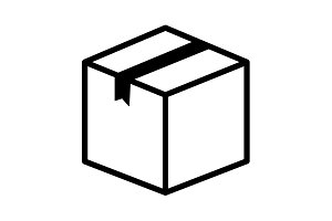 box vector icon. vector illustration