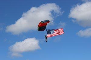 Parachuting Flag