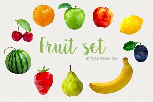 Geometric Fruit Set