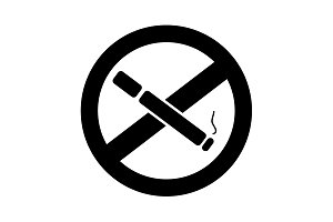 No smoking sign vector black