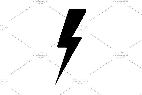 Lightning Flat Icon Vector