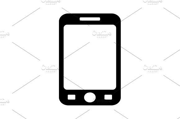 Smart Phone Isolation Vector Black
