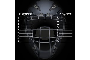 Baseball Catcher Mask Helmet