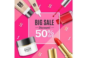 Cosmetic Big Sale Banner