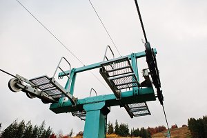 cableway and ski lifts