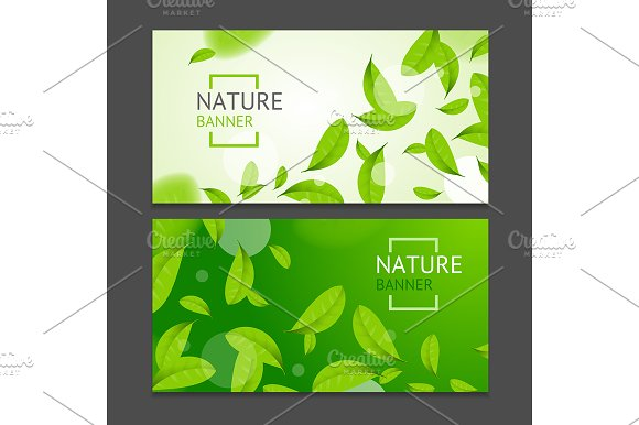 Realistic Leaves Flyer Banner