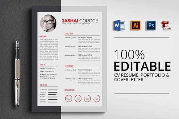 Creative Word Resume Design