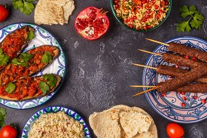 Traditional middle eastern dishes