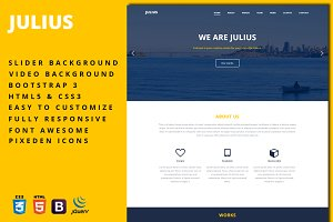 Julius - One-Page Business Template