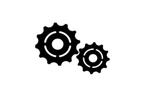 Vector Cog Settings Icon Symbol