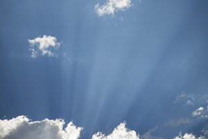 Beautiful Clouds and Sun Rays