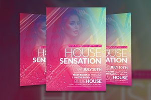 House Sensation Flyer Template