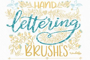 Lace Lettering Brushes for Procreate
