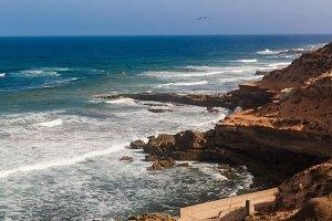 Atlantic ocean coastline in Morocco