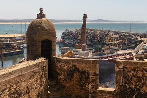 View of Essaouira port from old tower