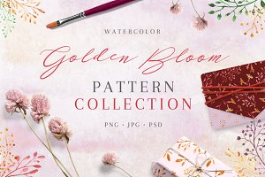50%OFF! Golden Bloom - pattern set