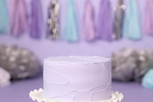 Purple Cake for a Mermaid Birthday