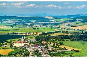 Rural landscape of Slovakia at Spis Castle