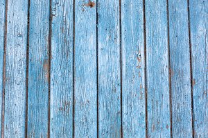 Vintage wooden blue background.