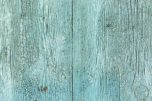 Vintage wooden green background.