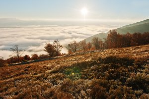 Carpathian mountains on autumn.