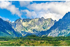 View of the High Tatra Mountains in Slovakia
