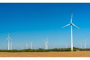Turbines at a wind farm in Austria