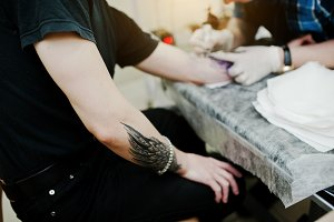 Tattoo master at work
