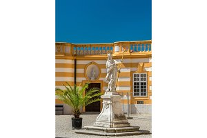 Statue at Stift Melk, a Benedictine abbey in the town of Melk in Austria