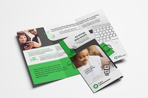 Web Design Trifold Brochure Template