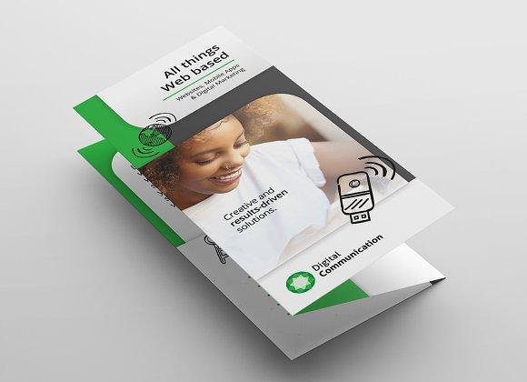 Web Design Trifold Brochure Template Brochure Templates Creative