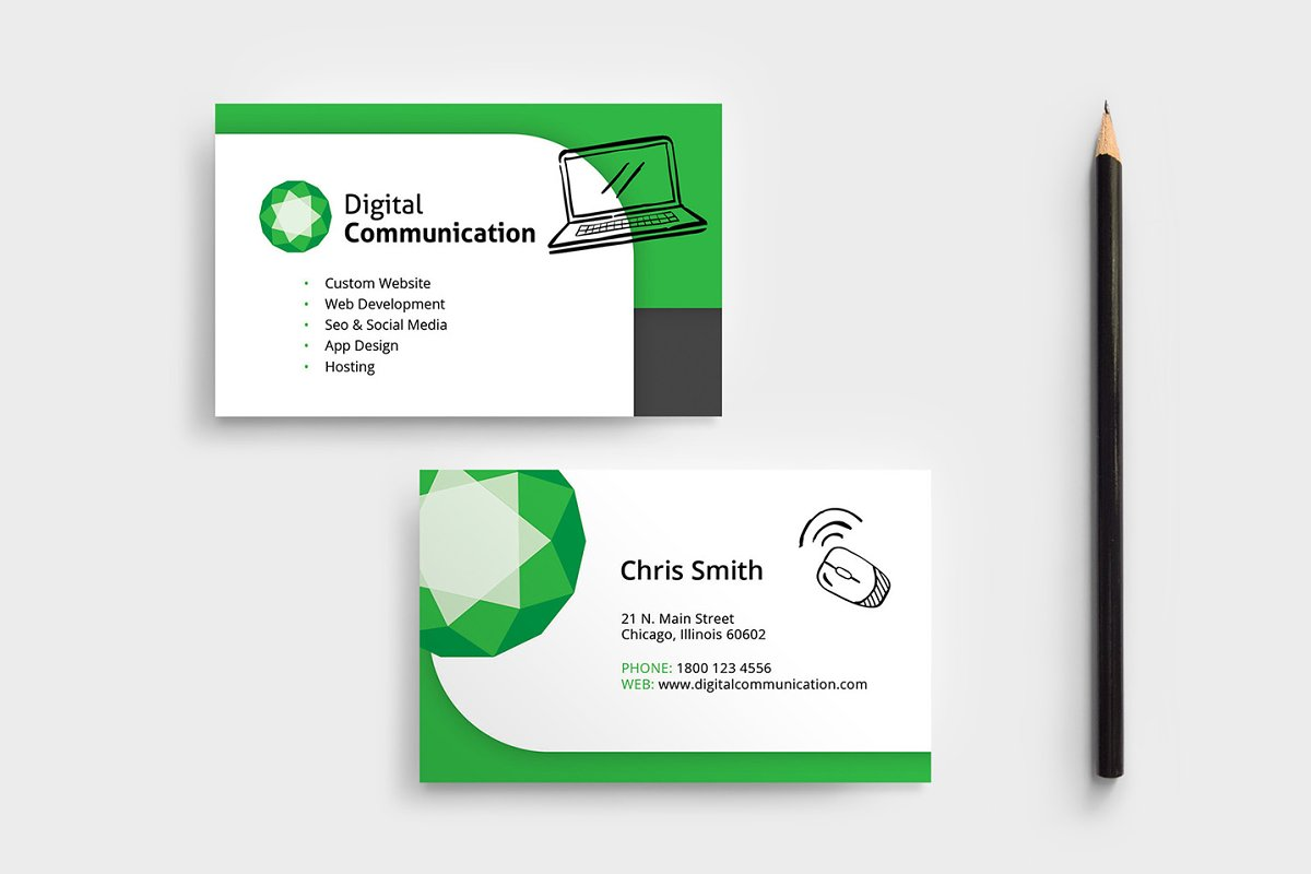 Web Designer Business Card Template ~ Business Card
