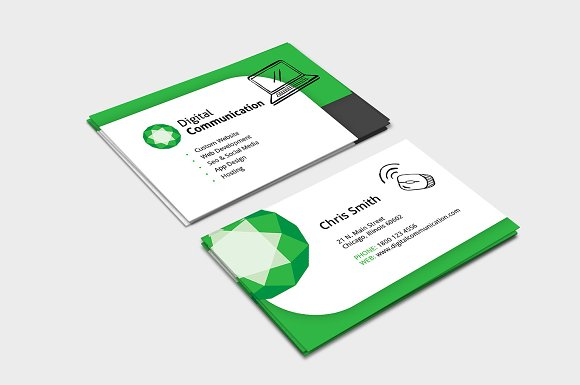 web designer business card template business card templates creative market - Web Designer Business Card