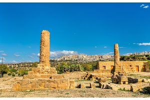 Remains of the Temple of Vulcan in the Valley of the Temples - Agrigento, Sicily