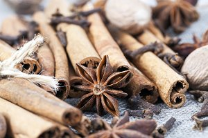cinnamon and anise with nutmeg