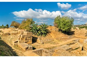 Ancient Greek Ruins in the Valley of the Temples near Agrigento - Sicily, Italy