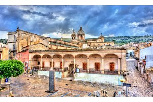 The Basilica of Mary SS. Annunziata in Comiso. Sicily, Italy