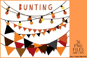 Halloween Bunting & String of Lights