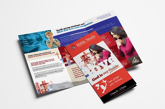 church trifold brochure template brochures