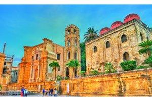 The Church of San Cataldo and the Martorana in Palermo, Italy