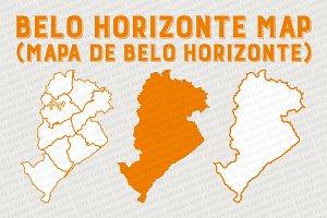 Belo Horizonte vector Map Regions