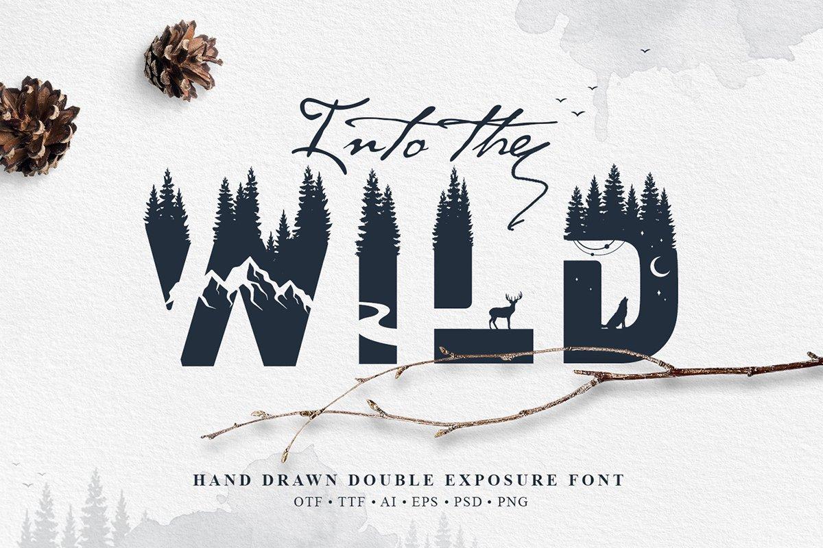 Wild-Double-Exposure-Font-www.mockuphill.com