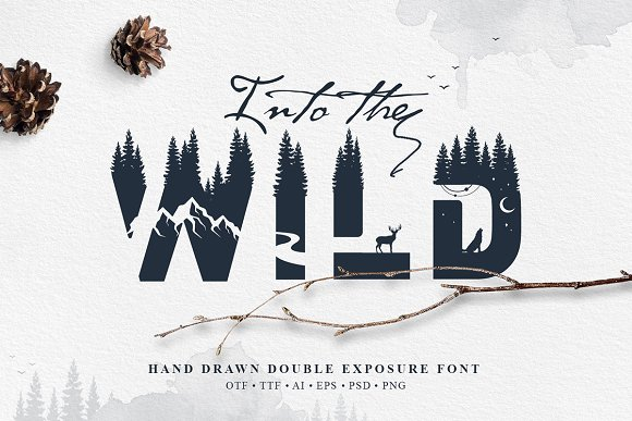 Into The Wild Double Exposure Font