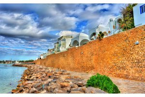 Medina of Hammamet on the Mediterranean coast in Tunisia
