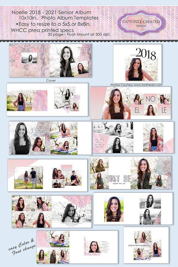 2018-21 Noelle10x10in Senior Album