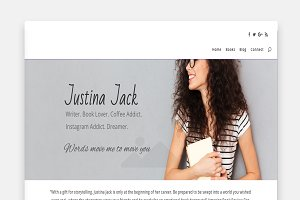 Justina - Divi Home Page Template