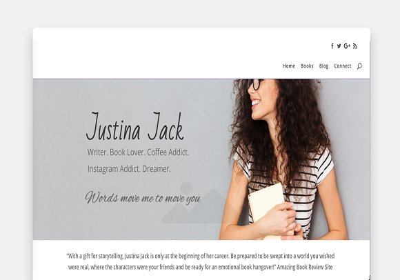 Justina Divi Home Page Template