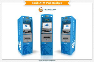 Bank ATM Psd Mockup